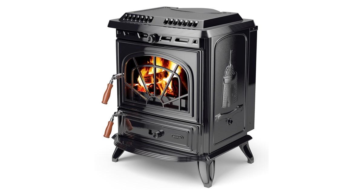 Stanley 19 2kw Boiler Stove Black Enamel Solid Fuel