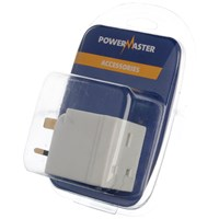Powermaster  2 Way Plug Adaptor - 13 Amp