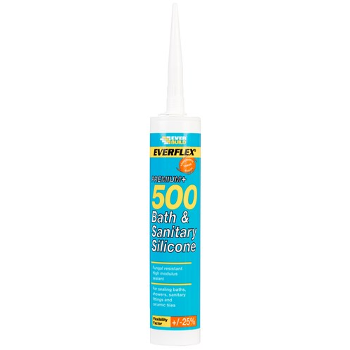Everbuild  500 Bath & Sanitary Silicone 310ml - White