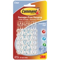 3M Command Clear Decorating Clips
