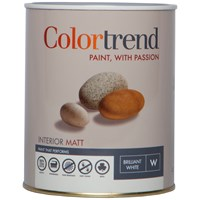 Colortrend  Interior Matt Pure Brilliant White Paint - 1 Litre