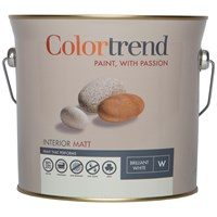 Colortrend  Interior Matt Pure Brilliant White Paint - 3 Litre