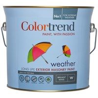 Colortrend  Weather Exterior Masonry Paint Pure Brilliant White - 3 Litre
