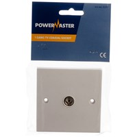 Powermaster  Flush TV Point Isolated - 1 Gang
