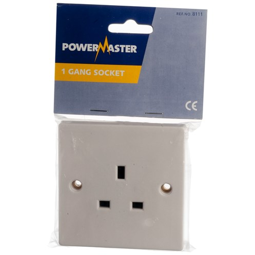 Powermaster  Unswitched Socket - 13 Amp 1 Gang