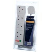 Powermaster  2m Surge Protected Extension Lead - 13 Amp 4 Gang