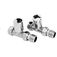BiWorld  Contract Straight Radiator Valves - Chrome