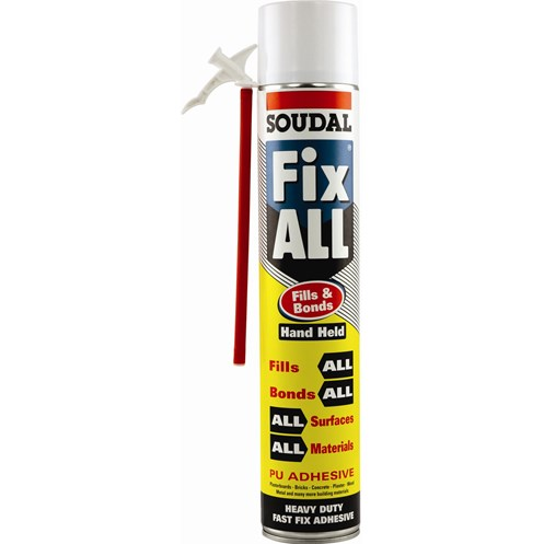 Soudal  Fix All Fills & Bonds PU Adhesive Handheld  - 750ml