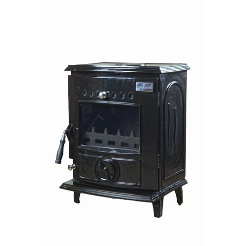Blacksmith Anvil 6kW DHW Boiler Stove - Black Enamel